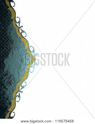 Blue Decoration Design. Element For Design. Template For Design. Copy Space For Ad Brochure Or Annou