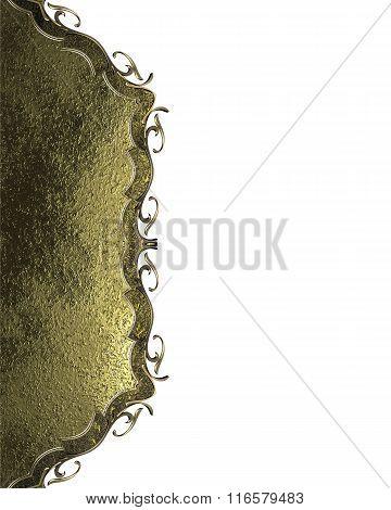 Gold Decoration Design. Element For Design. Template For Design. Copy Space For Ad Brochure Or Annou