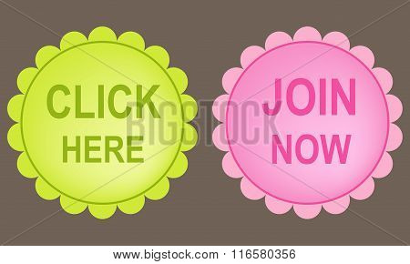 Click Here And Join Now Buttons