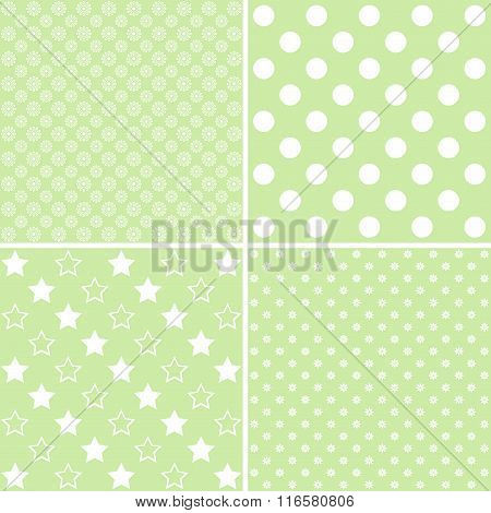Vector Set Of 4 Background Patterns