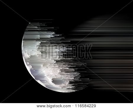 planet dissolves in space