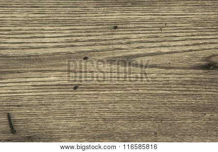 Old Wooden Table With Scratches