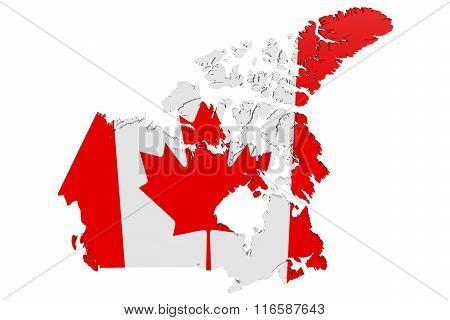 Canada Flag Map