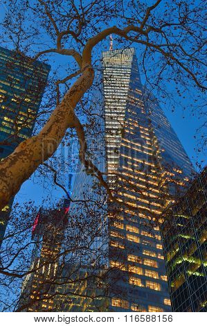 Buildings Of Manhattan - Bank Of America Tower.