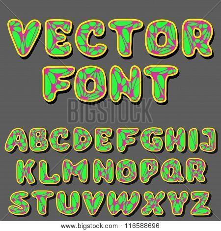 Vector Psychodelic Alphabet