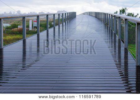 A Foot Bridge, Part Of The Beach Promenade, In Tel-aviv