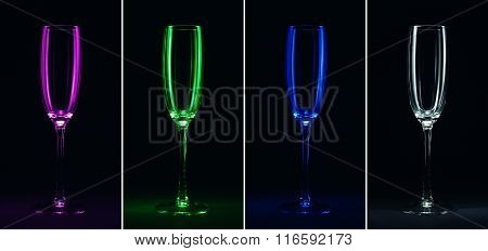 One Glass In Different Colors