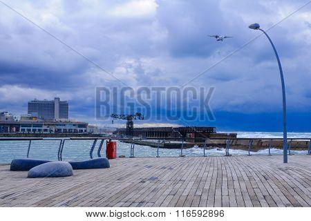Winter Scene, In The Tel-aviv Port
