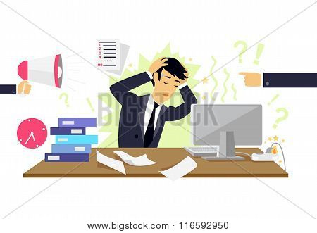 Stressful Condition Icon Flat Isolated