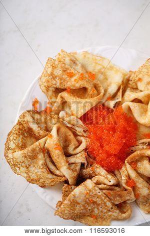 Salty snack for Shrovetide.