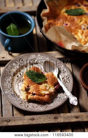 Homemade apple dessert