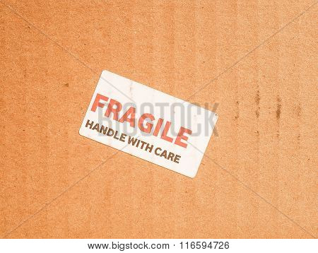 Fragile Sign Vintage