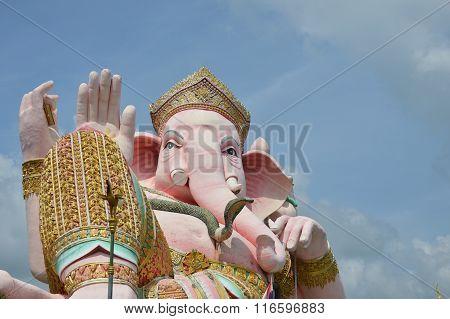 big elephant head god statue