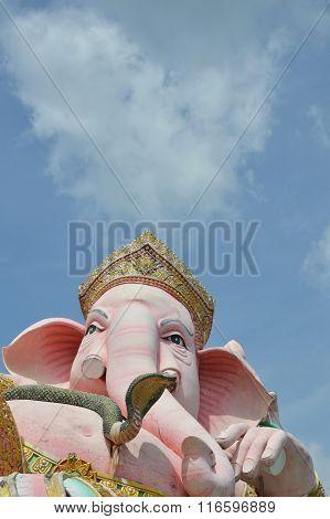 elephant head god in pink