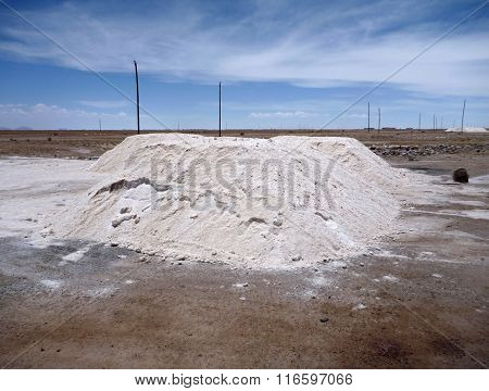 Heaps Of Salt Dryed At Salar De Uyuni