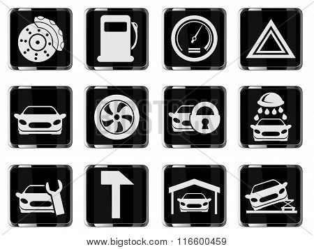 Vector car interface icon set