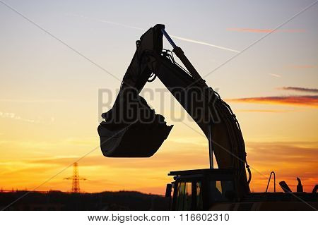 Building Site At The Sunset