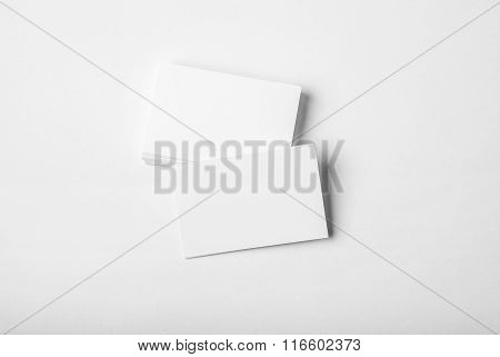 Blank white business card presentation for promotion of Corporate identity. Horizontal
