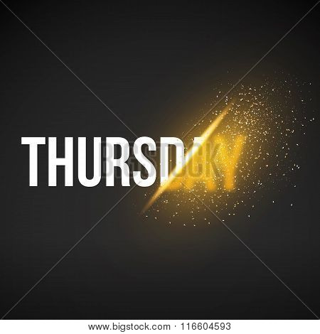Thursday Sale Energy Explosion Concept Vector Illustration. Week