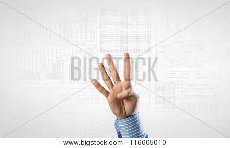 Man gesturing with fingers