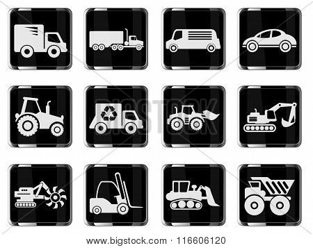 Transportation and Loading Machines Icons