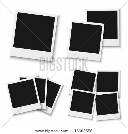 Blank Vintage Photo Frame Mockup Isolated on a White Background.