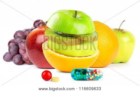 Fresh Fruits With Vitamins