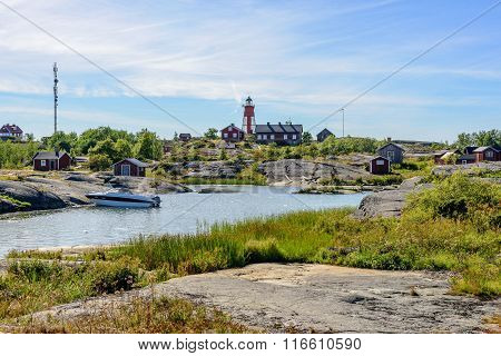 Archipelago Harbor With Old Lighthouse