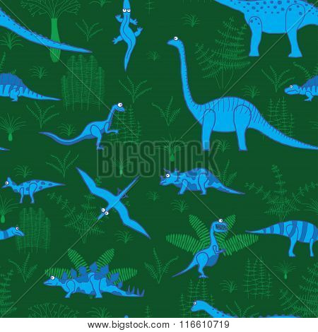 dinosaurs and trees