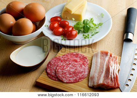 Ingredients Of Omelet