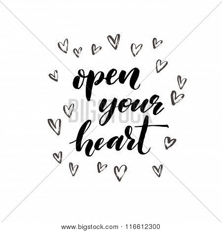Open Your Heart Phrase.