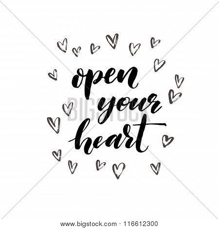 Open Your Heart Phrase.