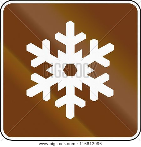 United States Mutcd Guide Road Sign - Winter Recreational Area