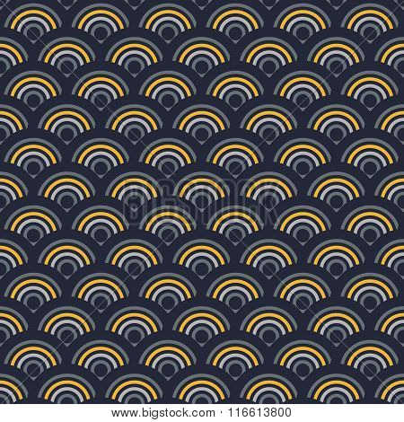 Seamless Abstract Navy Blue, Gray Circles Texture, Background Pattern