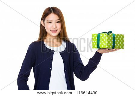 Woman with a gift
