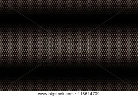 Black And Gold Metallic Mesh Background Texture.