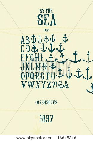 Vintage painted serif font