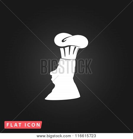 Silhouette of chef in hat