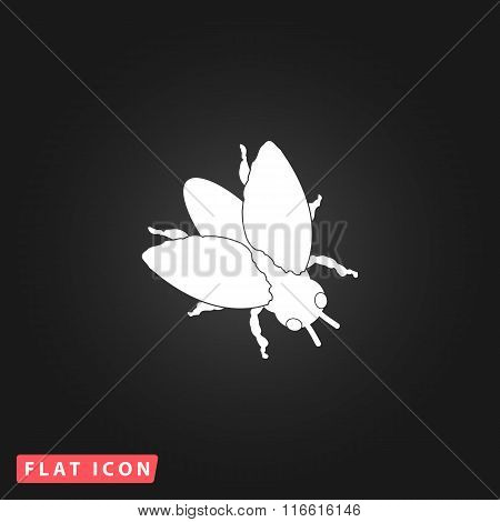Stencil flies icon
