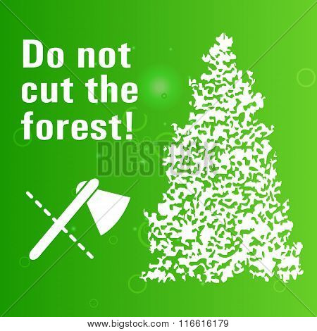 Poster Banning Cut Wood
