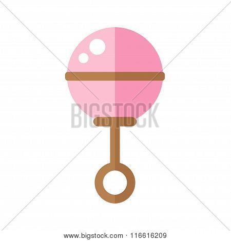 Rattle isolated icon on white background.