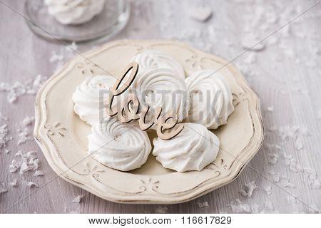 White Apple Marshmallows,  Zephyr For Valentine Day