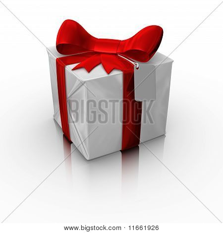 Gift box with a blnk card