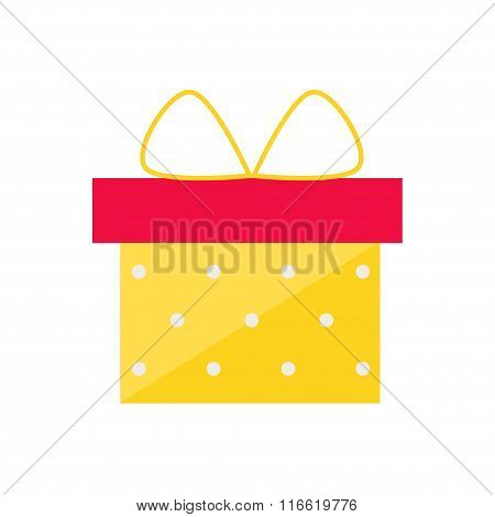 Gift box isolated icon on white background.