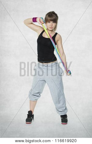 Woman With Elastic