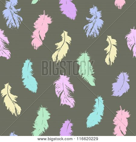 Vector Feather Seamless Pattern