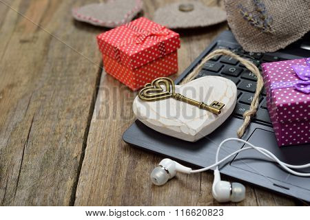 Different Accessories On A Wooden Background