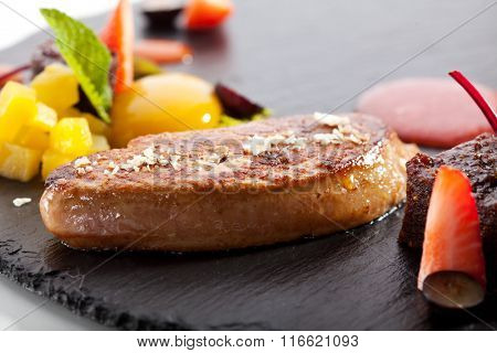 Duck Fillet on Black Stone