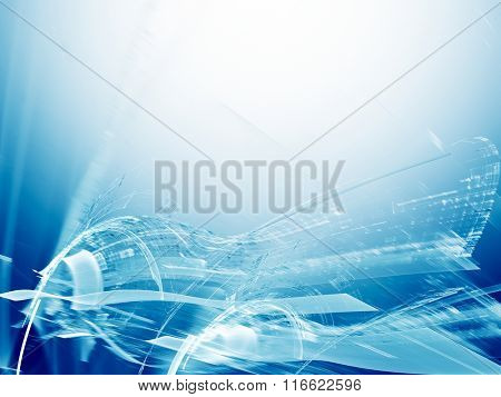 Digital art abstract background. Dynamic advanced technology concept.