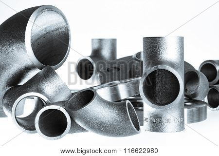 Steel welding fittings.